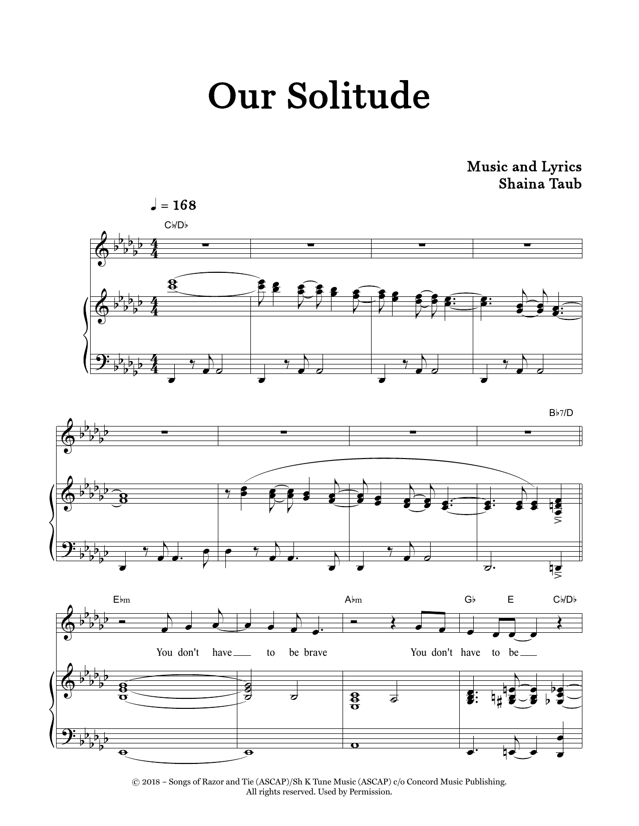 Our Solitude Sheet Music