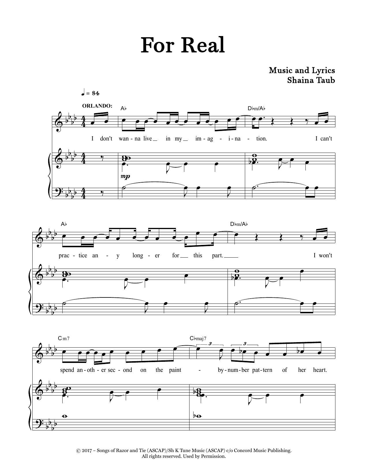 For Real (from As You Like It) Sheet Music