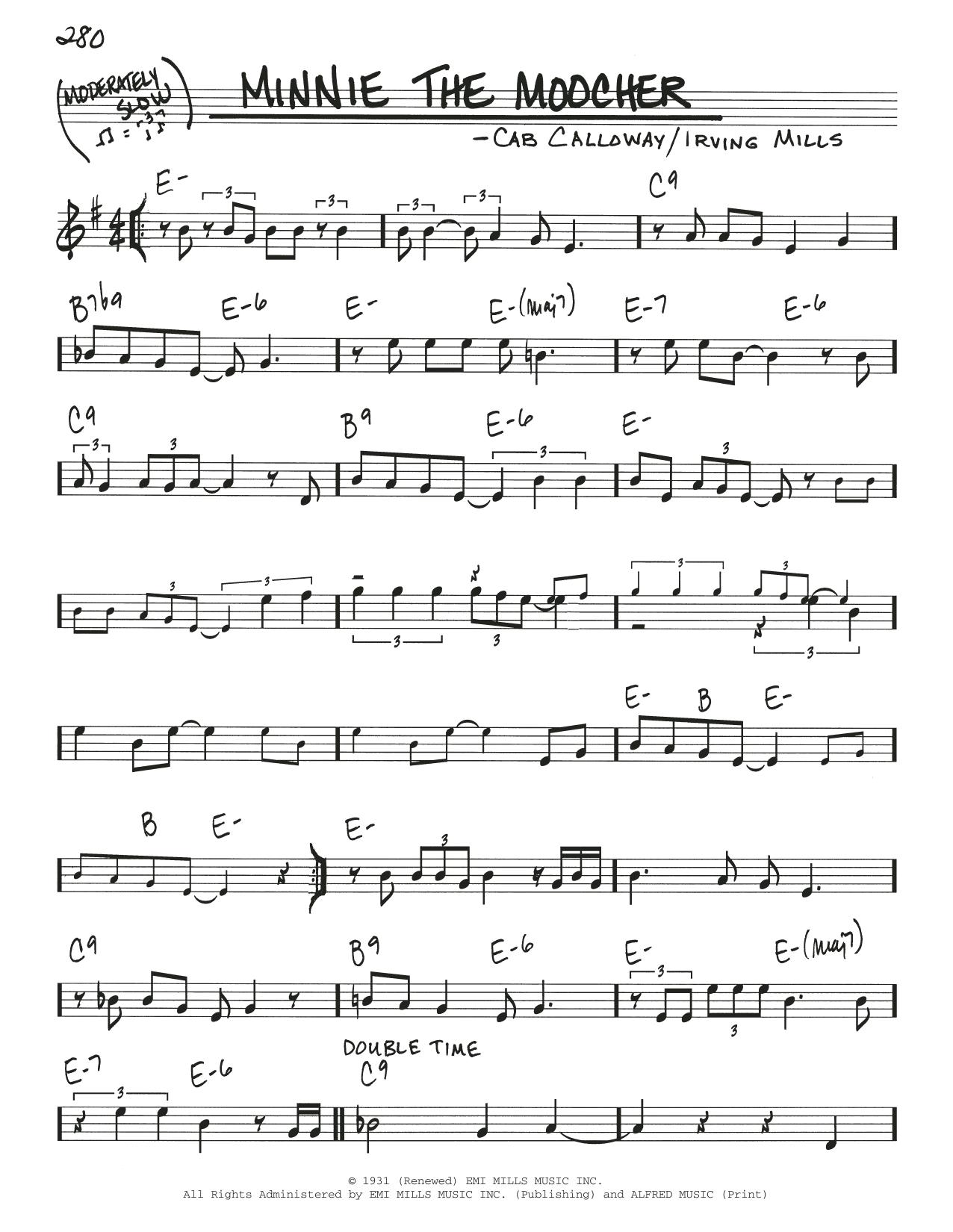 Minnie The Moocher Sheet Music