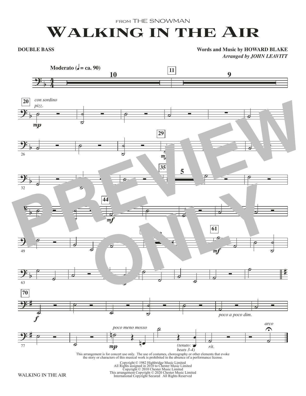 Walking In The Air (from The Snowman) (arr. John Leavitt) - Double Bass Sheet Music