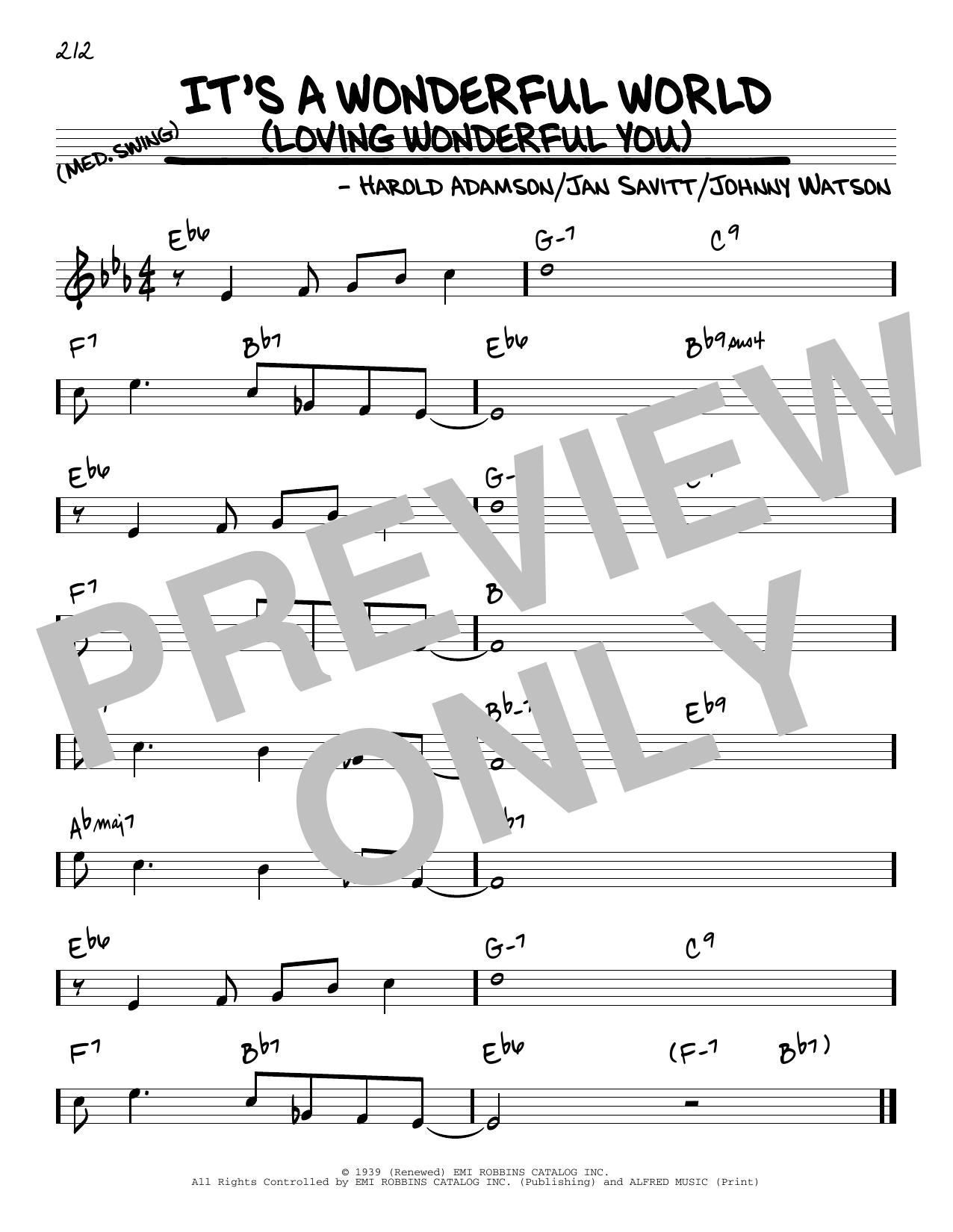 It's A Wonderful World (Loving Wonderful You) Sheet Music