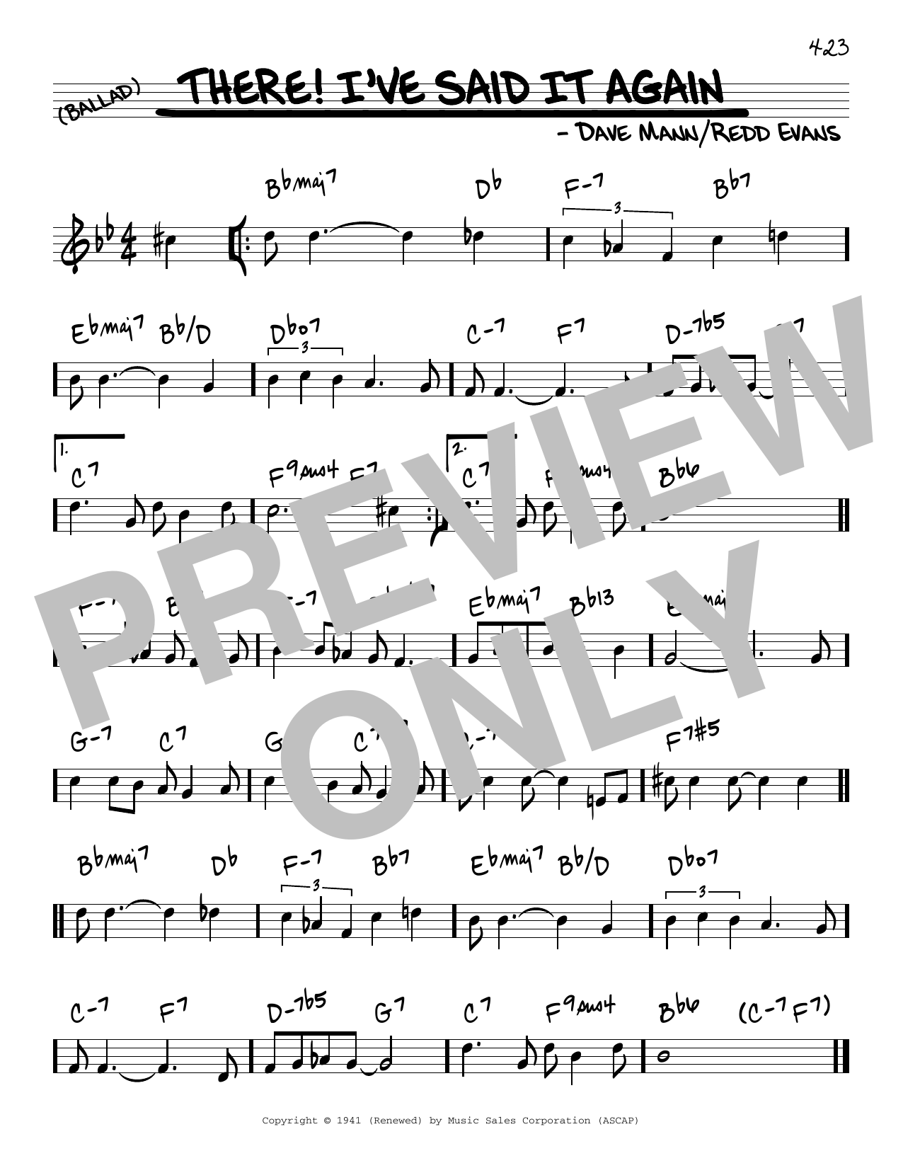 There! I've Said It Again Sheet Music