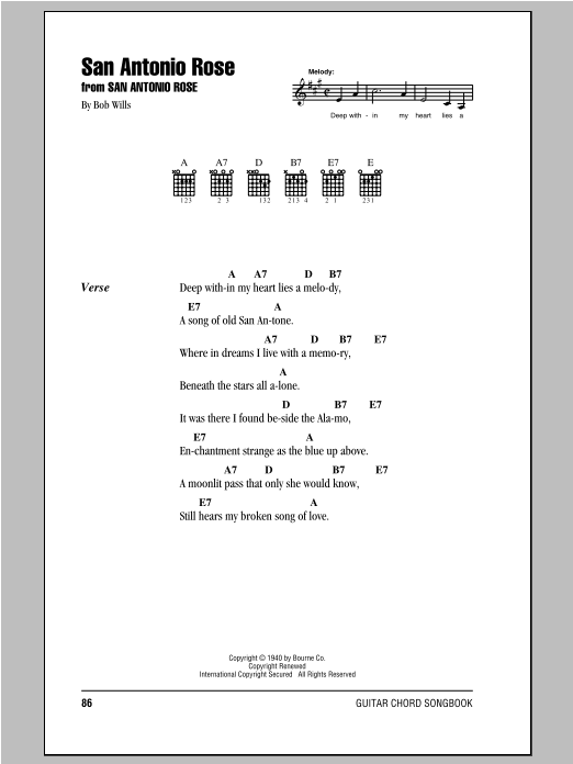 San Antonio Rose Sheet Music