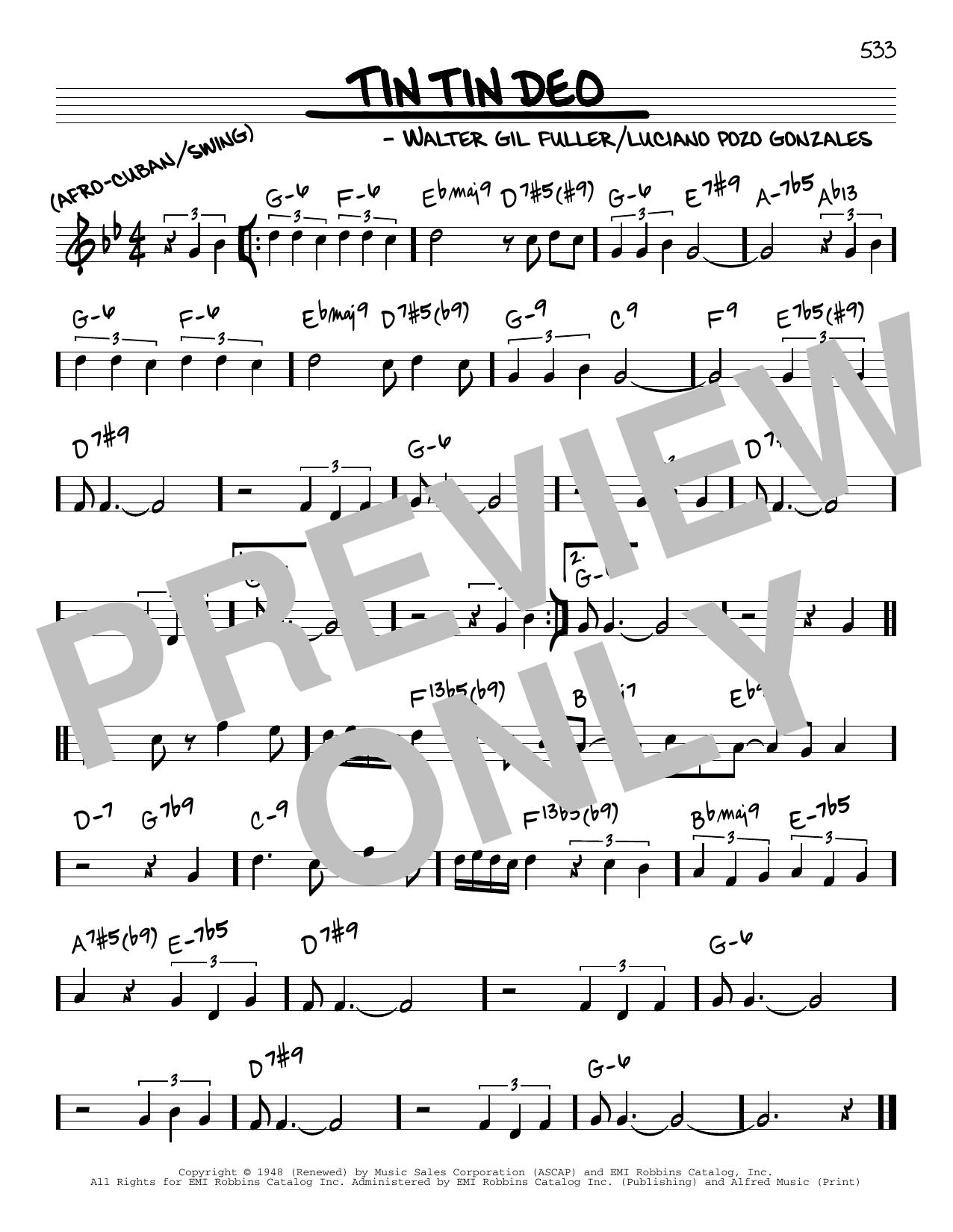 Tin Tin Deo Sheet Music