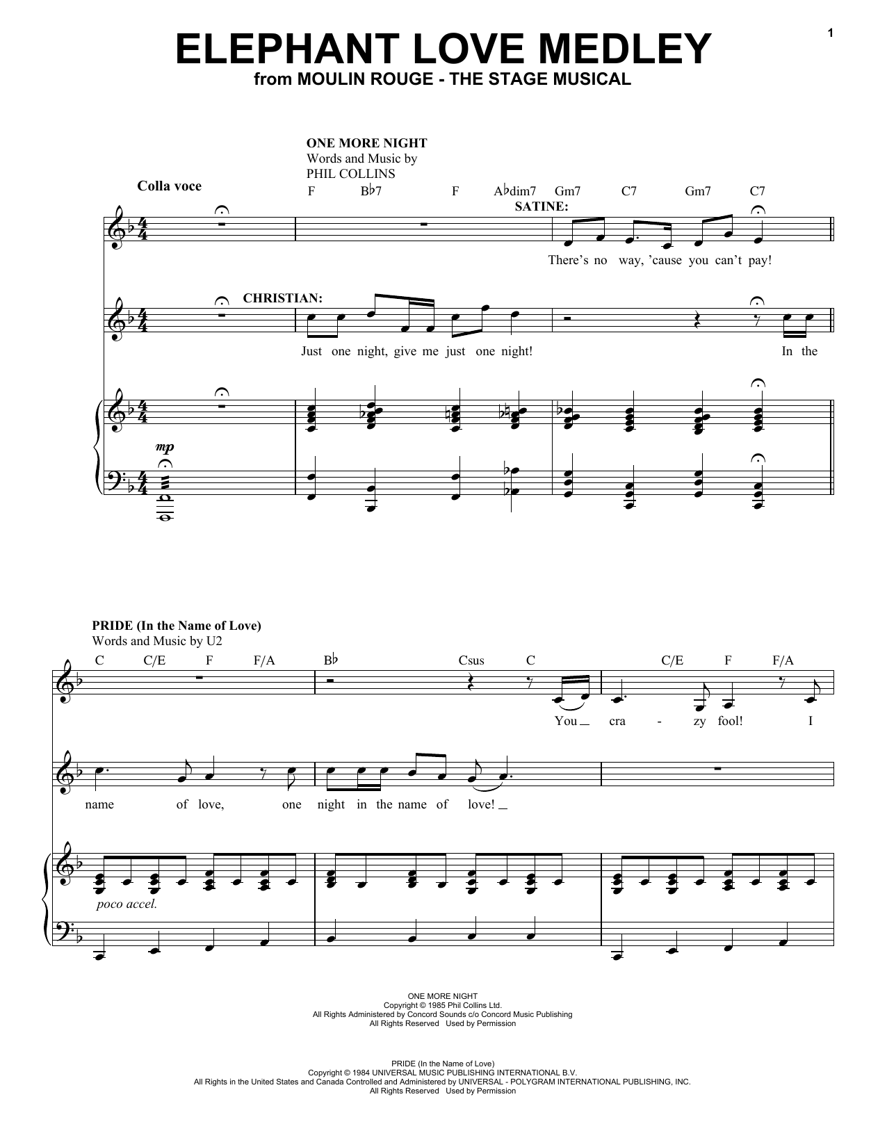 Elephant Love Medley (from Moulin Rouge! The Musical) Sheet Music