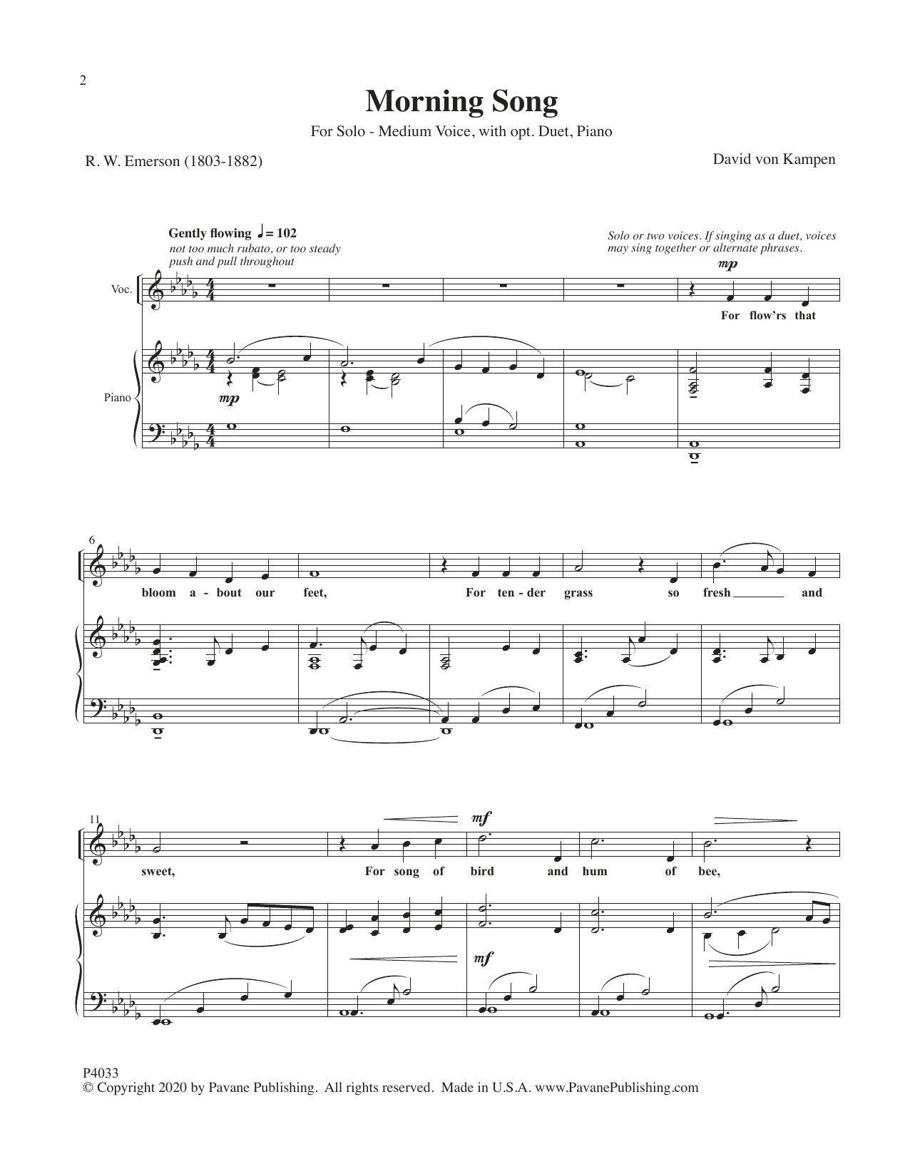 Morning Song Sheet Music
