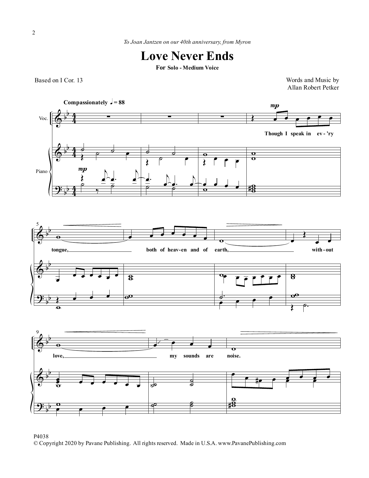 Love Never Ends Sheet Music