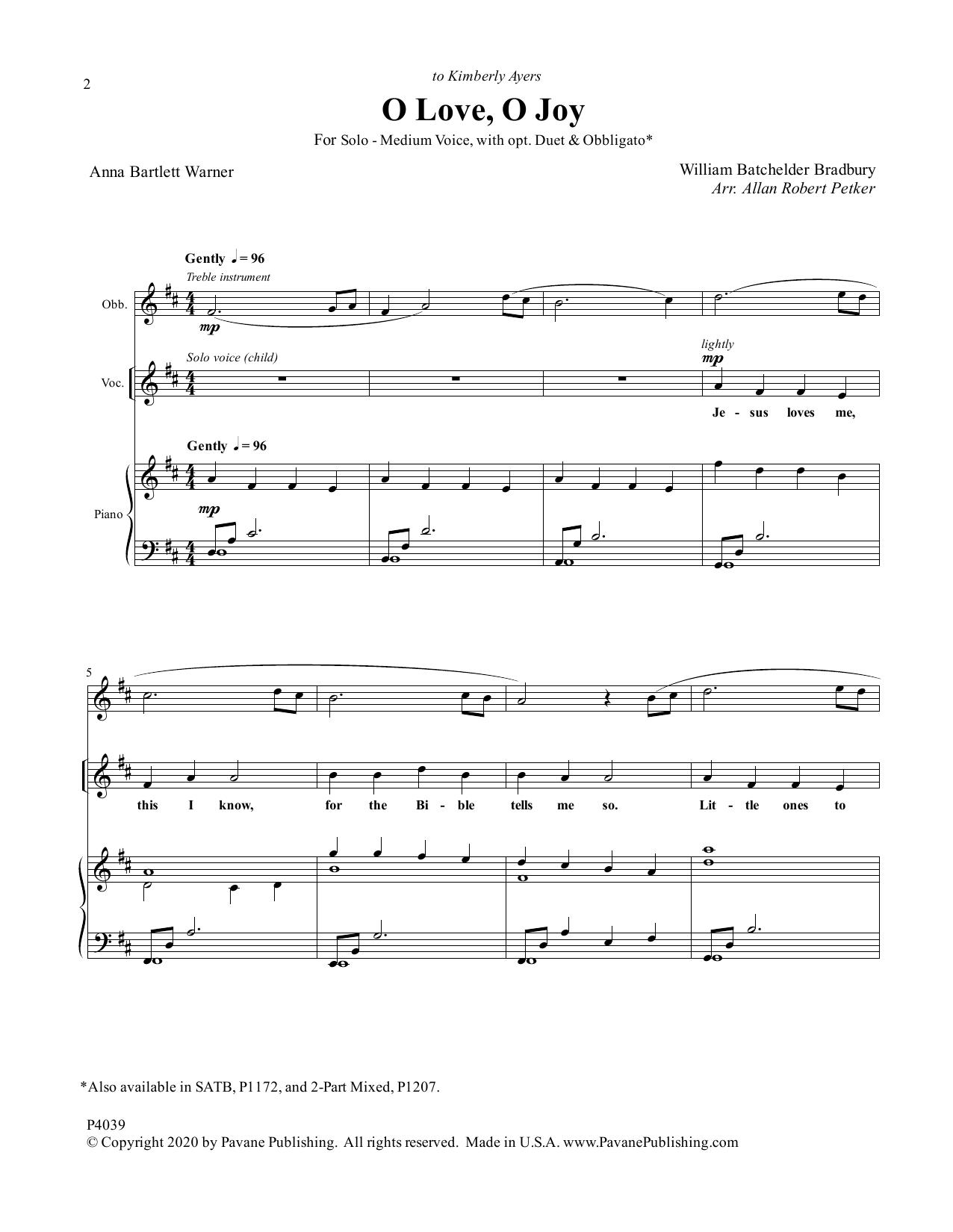 O Love, O Joy Sheet Music