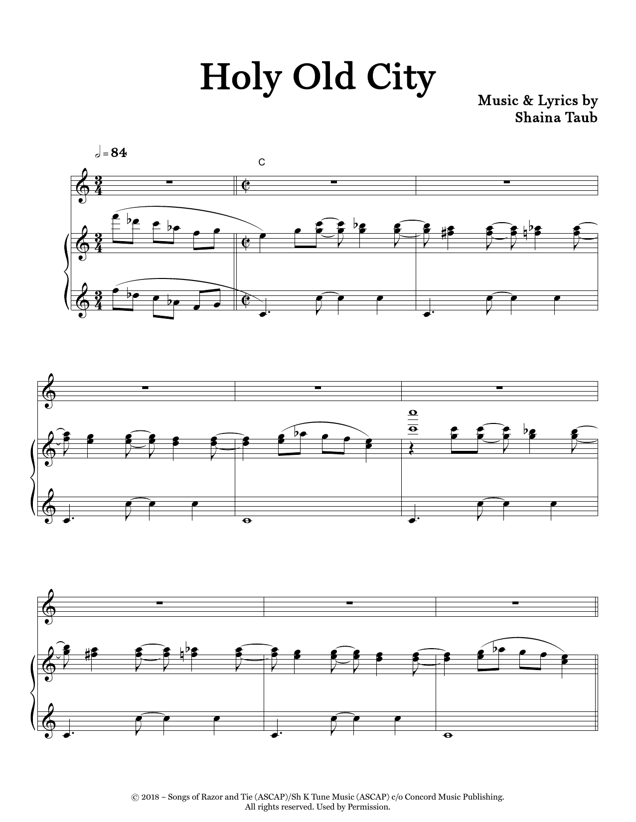 Holy Old City Sheet Music