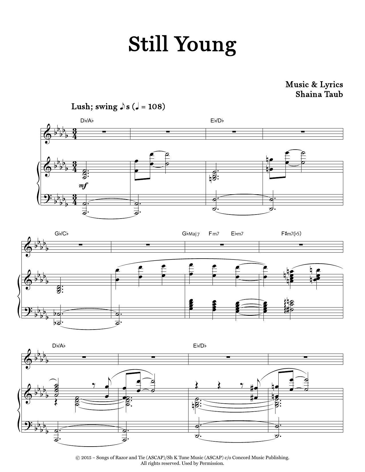 Still Young Sheet Music