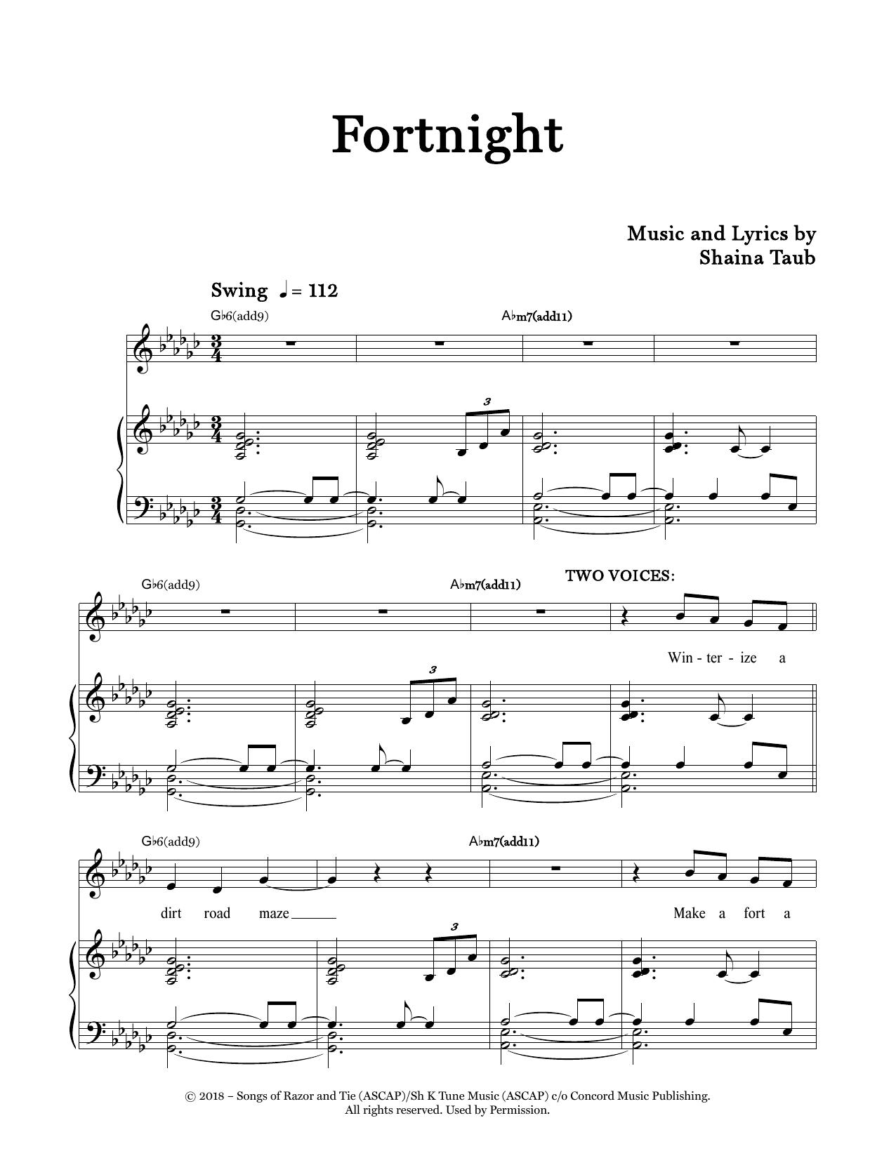 Fortnight Sheet Music