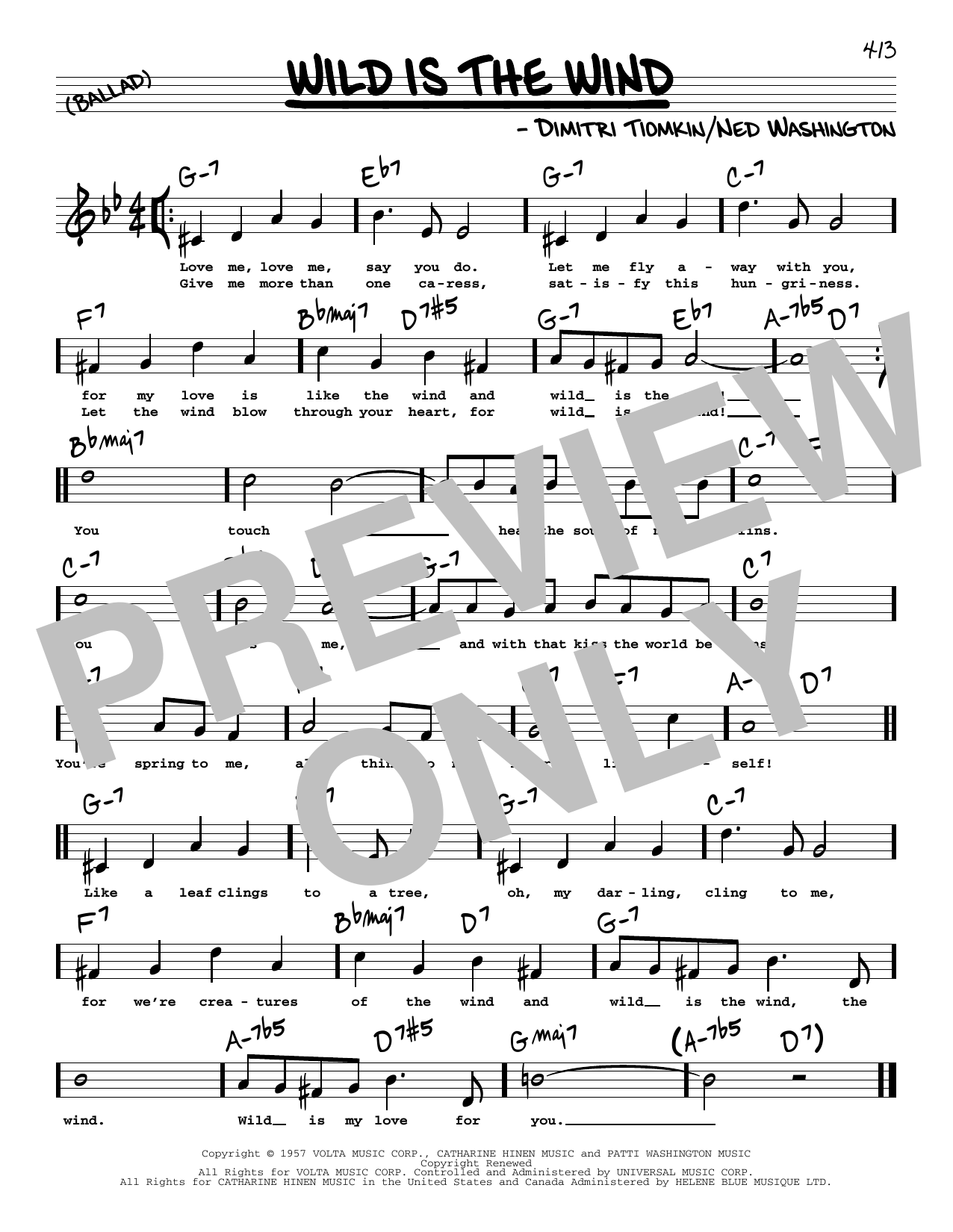 Wild Is The Wind High Voice Sheet Music   David Bowie   Real Book –  Melody, Lyrics & Chords