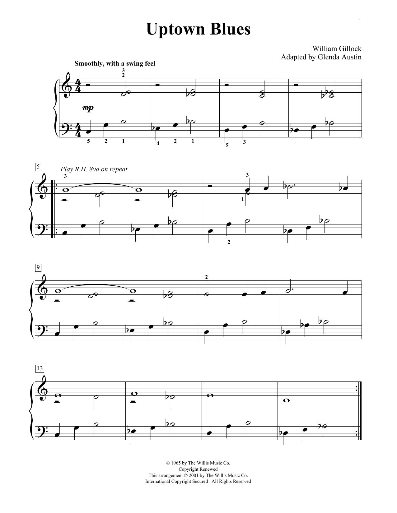 Uptown Blues (Simplified) (adapted by Glenda Austin) Digitale Noten