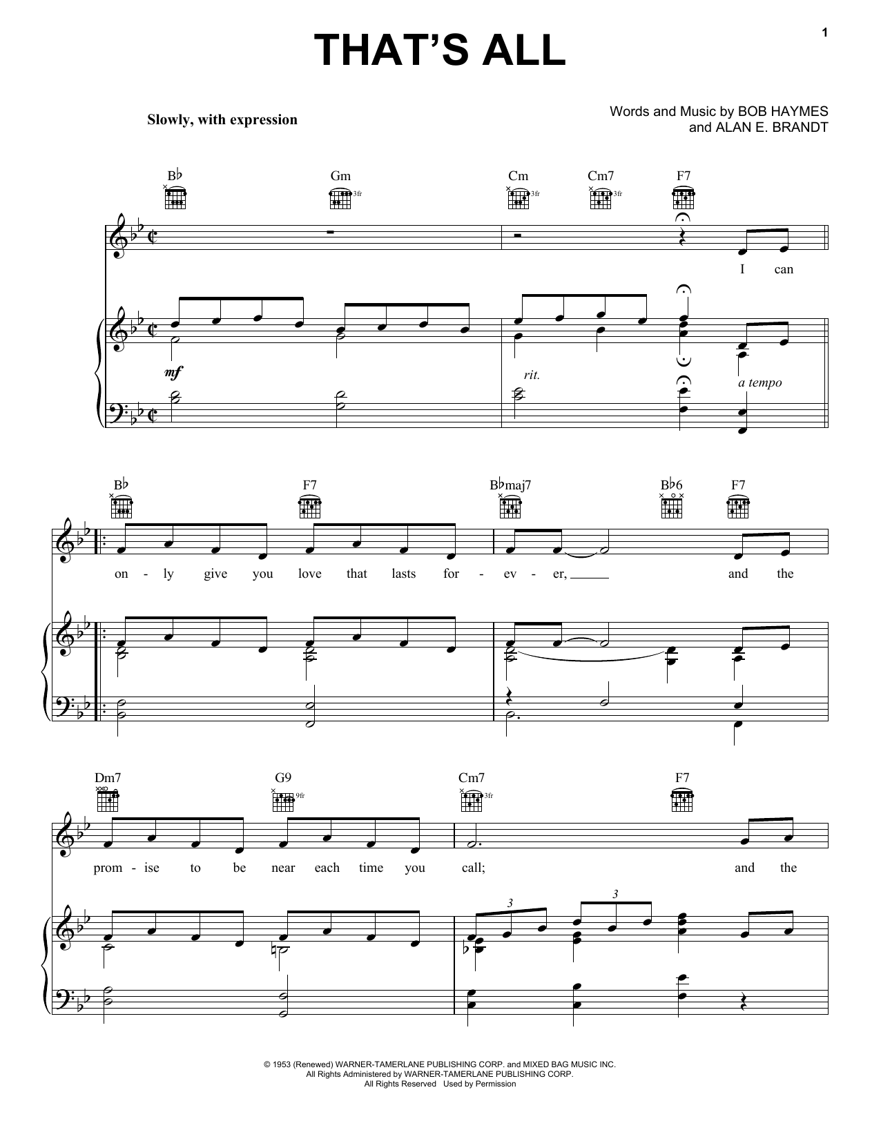 That's All Sheet Music