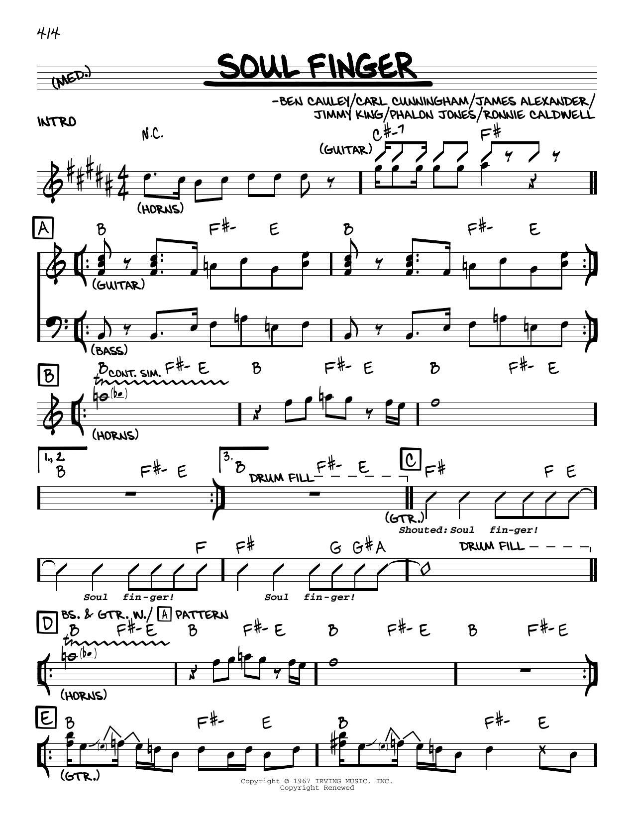 Soul Finger Sheet Music