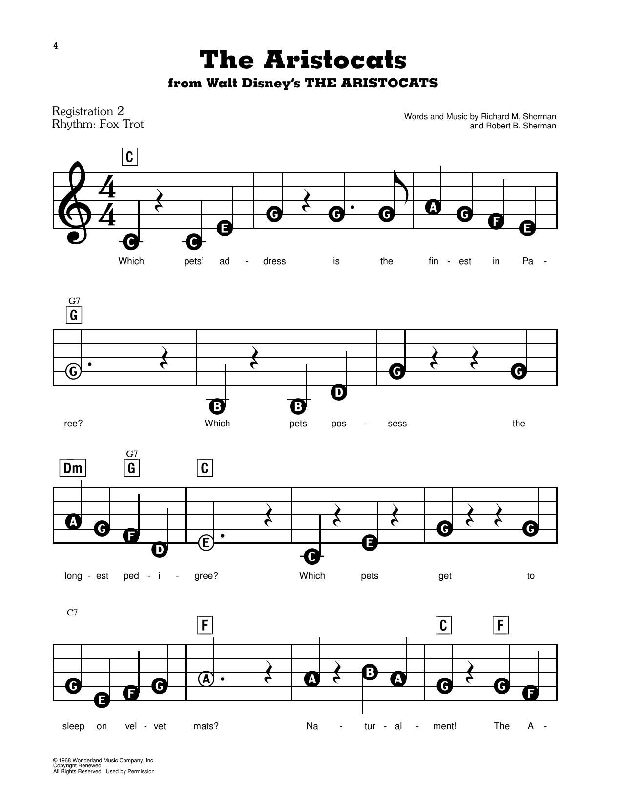 The Aristocats Sheet Music