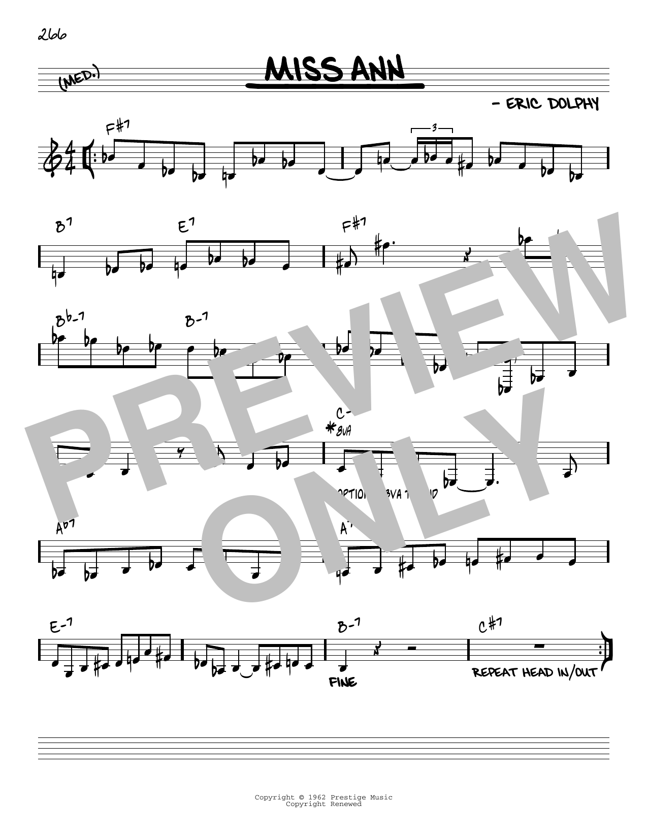 Miss Ann [Reharmonized version] (arr. Jack Grassel) Sheet Music