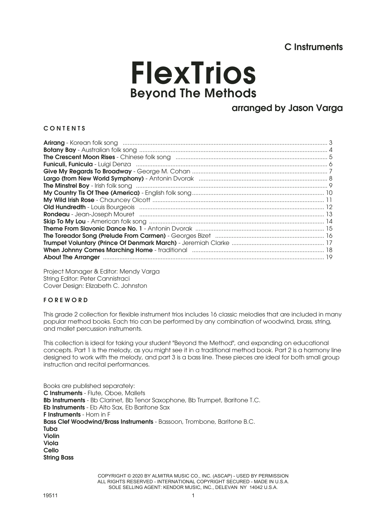 Flextrios - Beyond The Methods (16 Pieces) - C Instruments Sheet Music