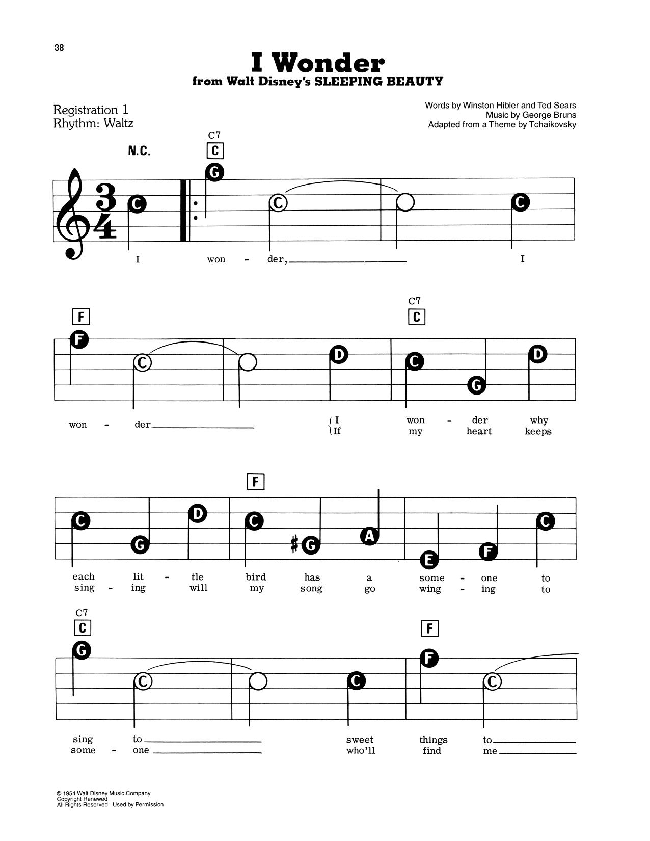 I Wonder (from Sleeping Beauty) (E-Z Play Today)