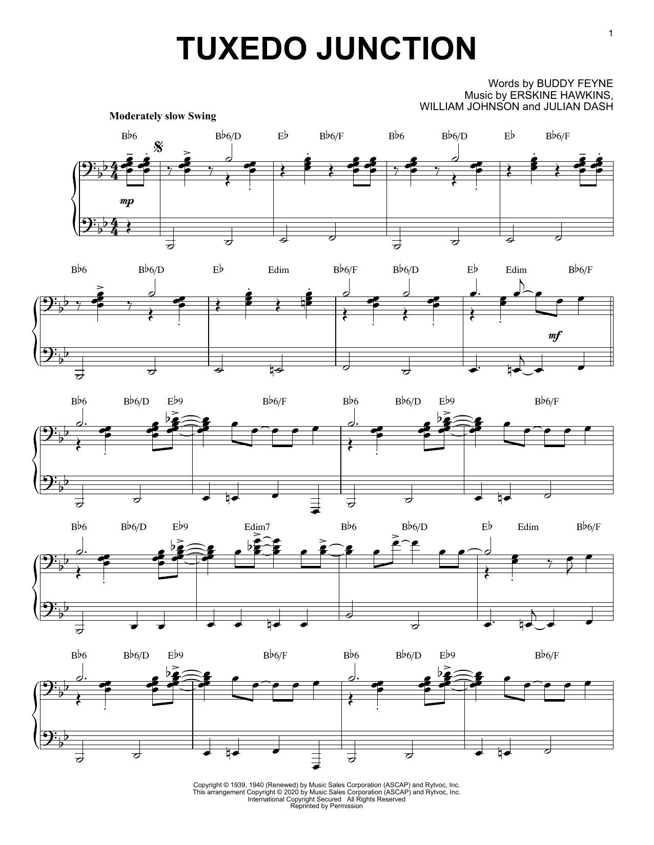 Partition piano Tuxedo Junction [Jazz version] (arr. Brent Edstrom) de Buddy Feyne - Piano Solo