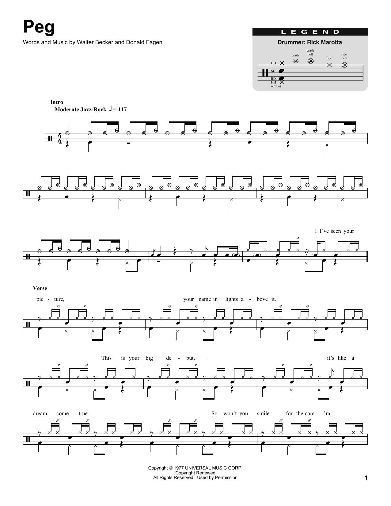 Peg (Drums Transcription)