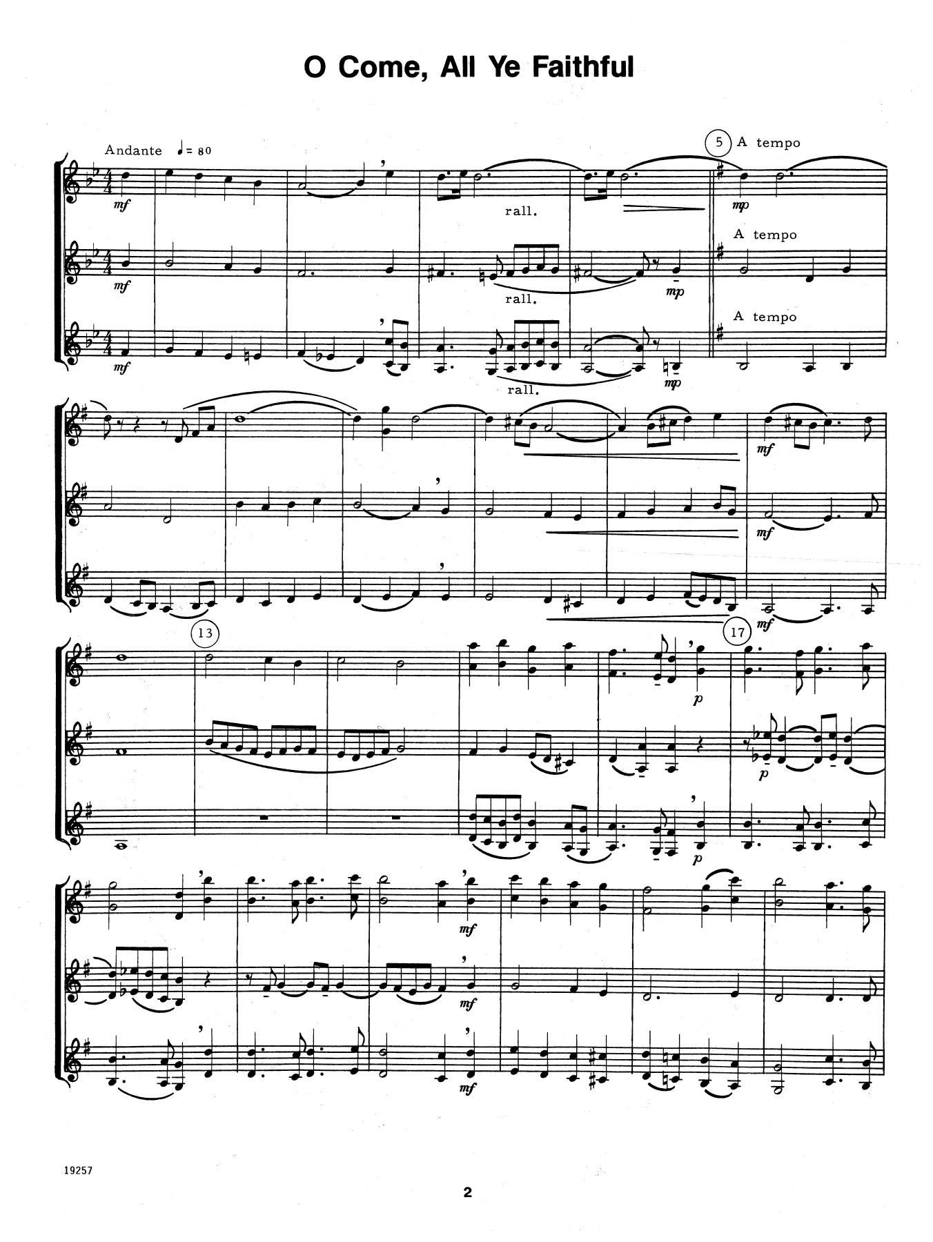Christmas For Three - Bb Instruments Sheet Music