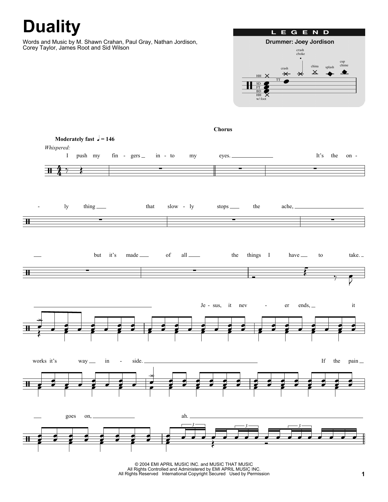 Duality Sheet Music