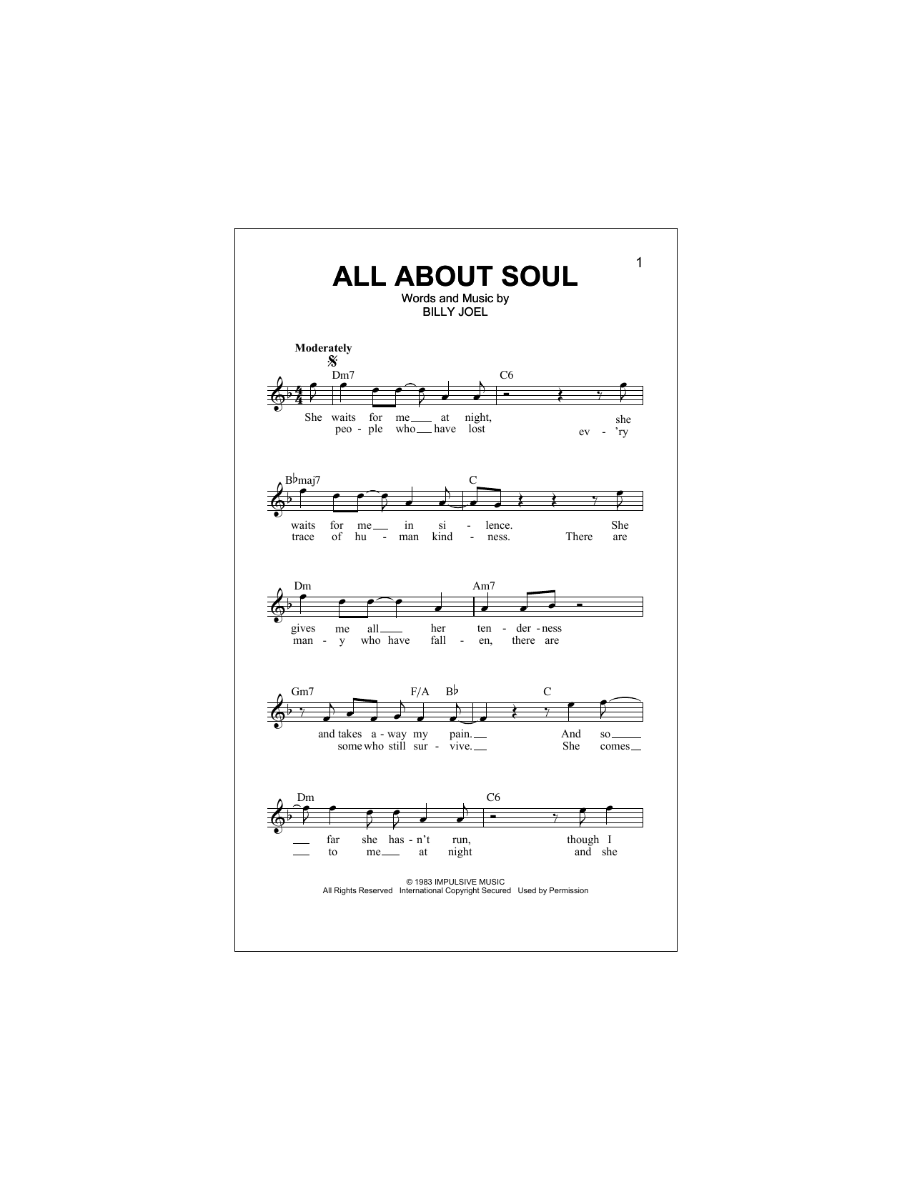 All About Soul (Lead Sheet / Fake Book)
