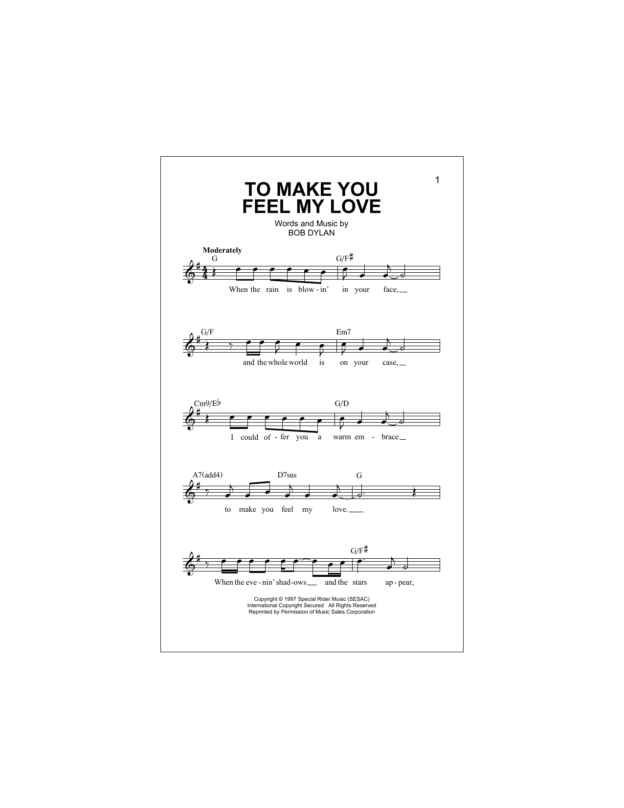 To make you feel my love chords by billy joel melody line lyrics billy joel to make you feel my love melody line lyrics chords hexwebz Image collections