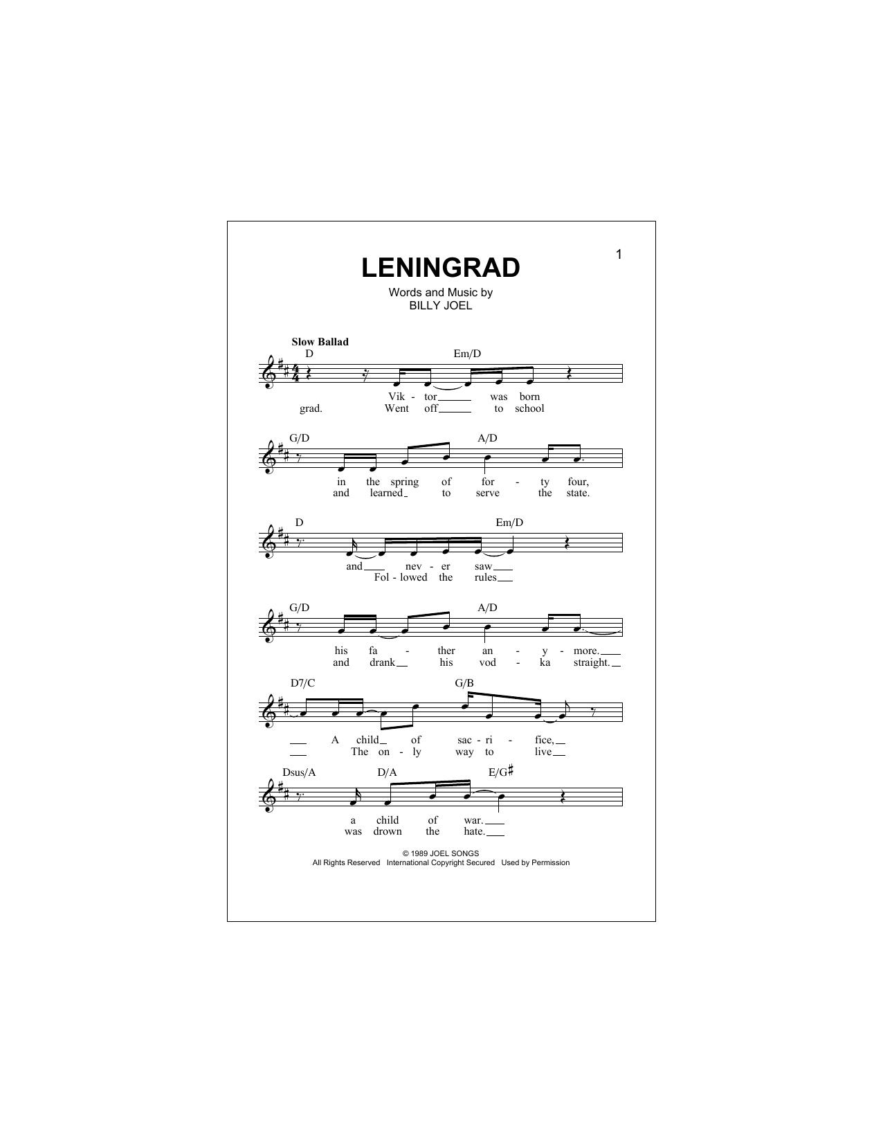 Leningrad Sheet Music