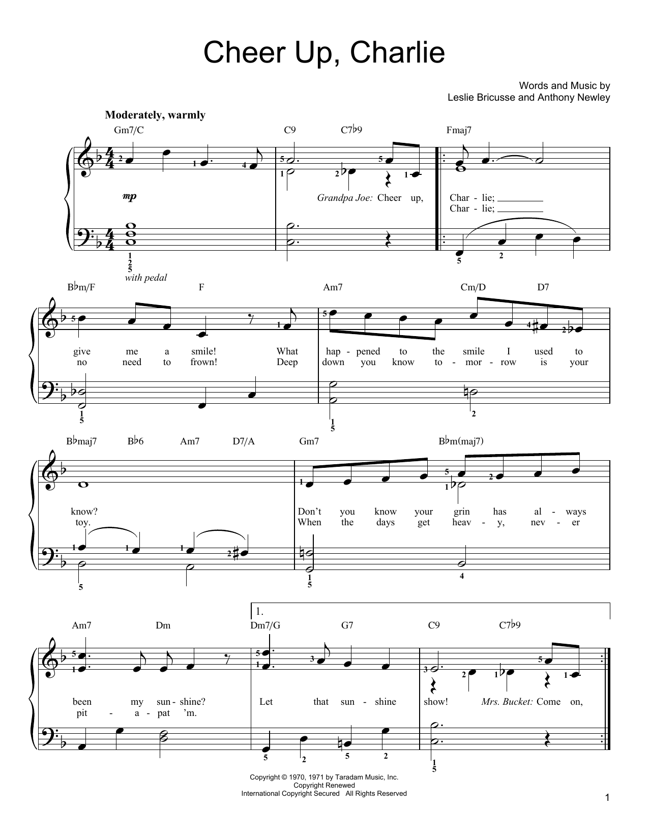 Cheer Up, Charlie Sheet Music
