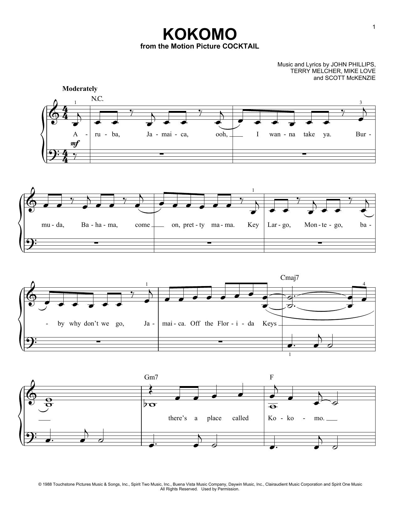 Kokomo (Easy Piano)