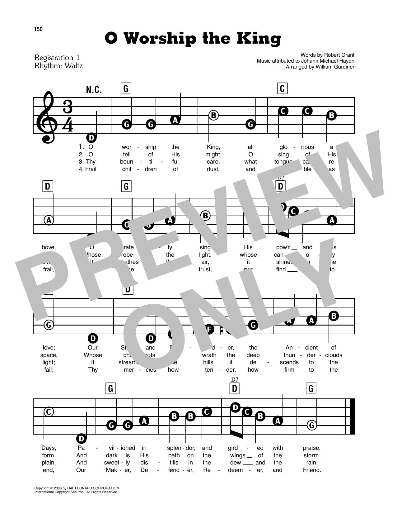 O Worship The King (E-Z Play Today)