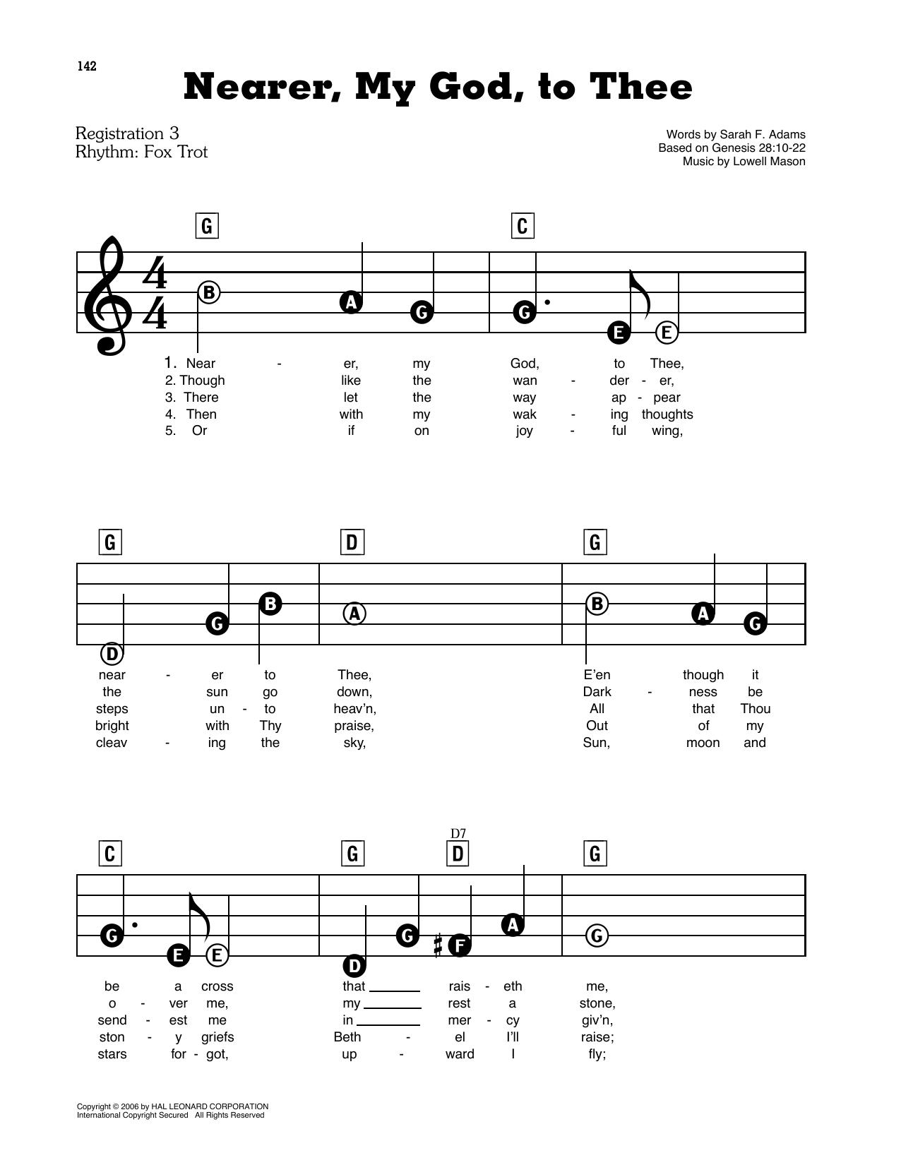 Nearer, My God, To Thee Sheet Music