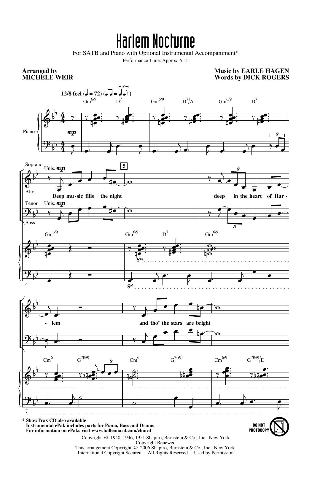 Harlem Nocturne (arr. Michele Weir) Sheet Music