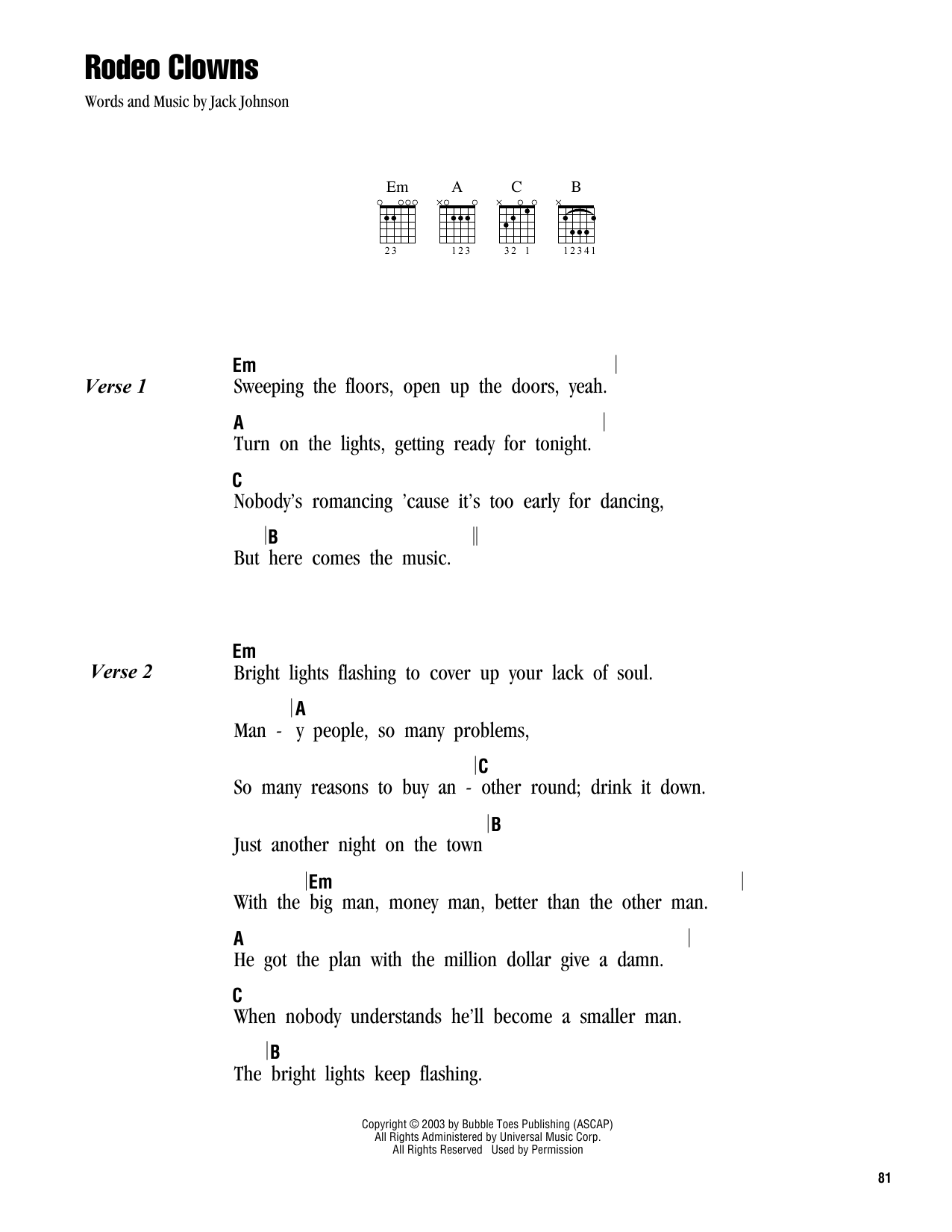 Rodeo Clowns Sheet Music
