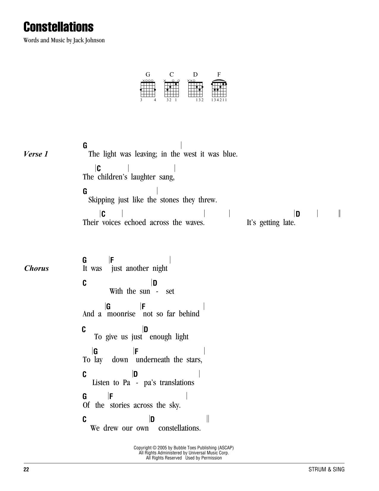Constellations Sheet Music