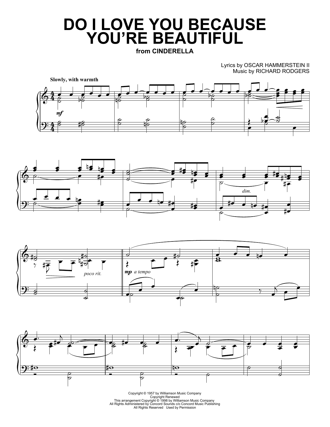 Do I Love You Because You're Beautiful? (Piano Solo)