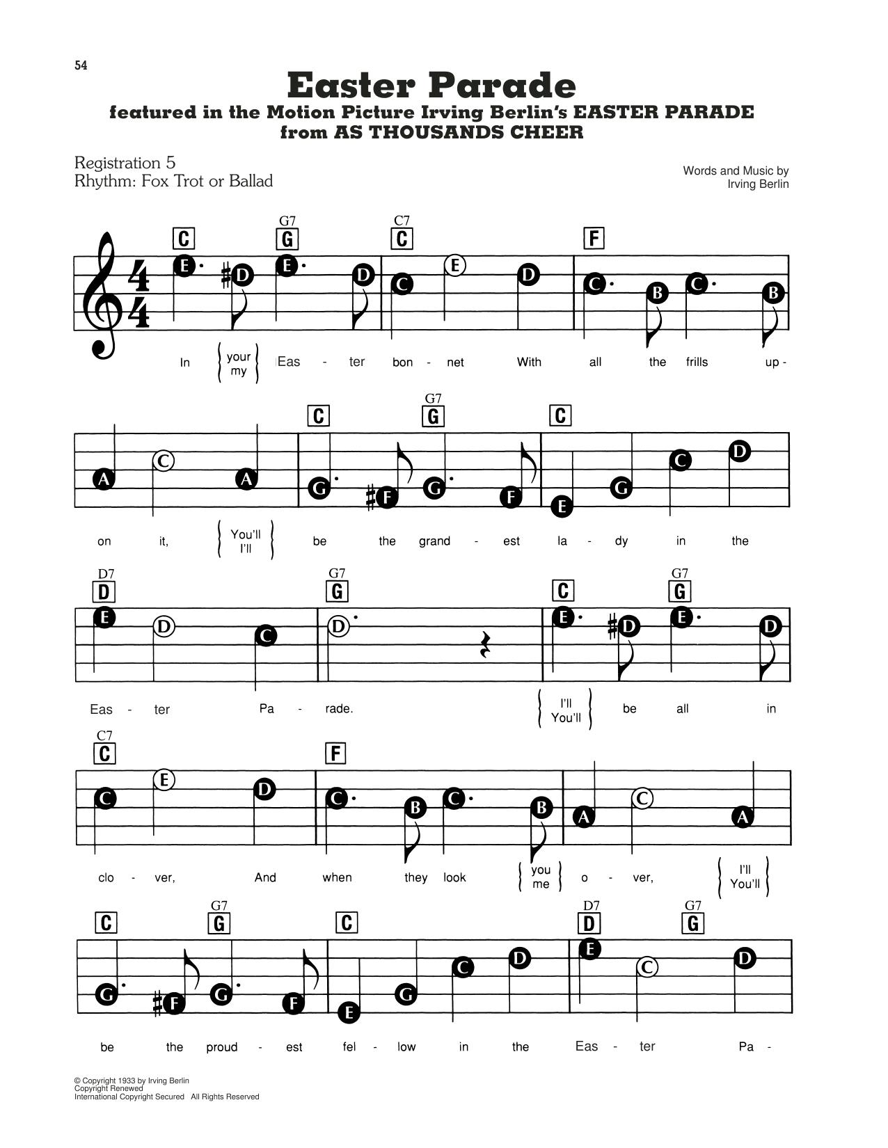 Easter Parade (E-Z Play Today)