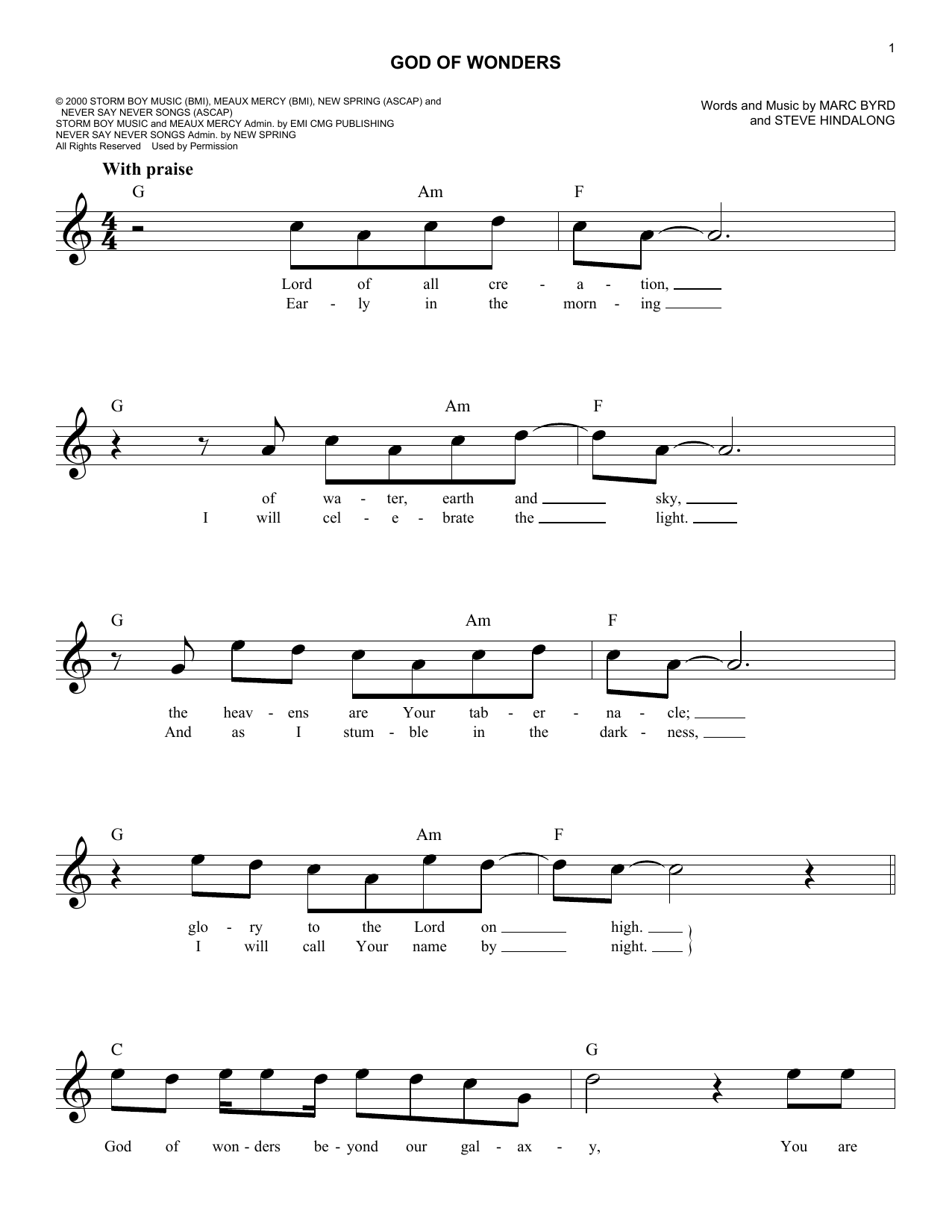 The Easy Worship Fake Book - Over 100 Songs in the Key of C by Various