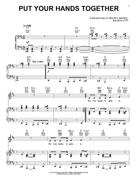 Put Your Hands Together Sheet Music