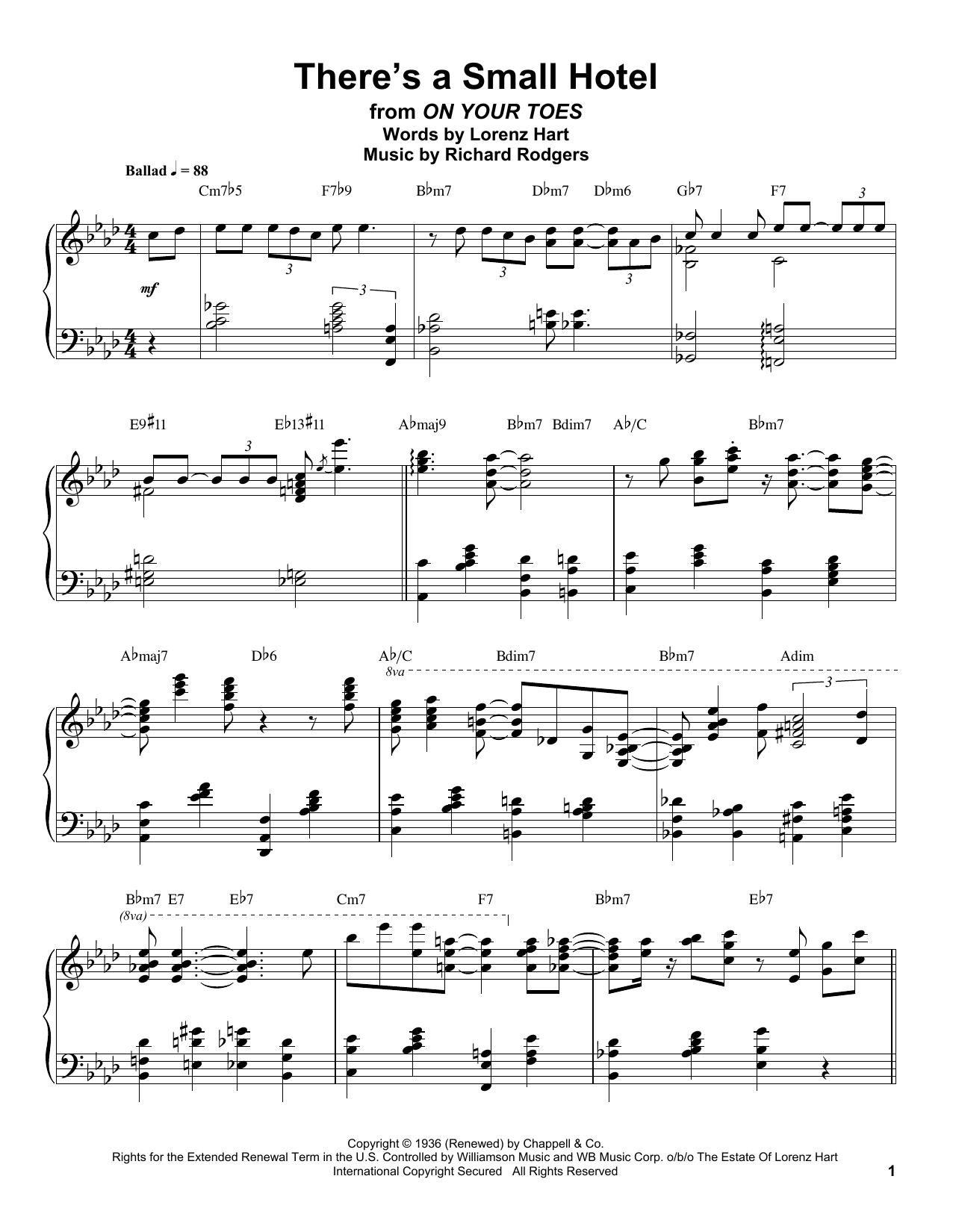 There's A Small Hotel (Piano Transcription)