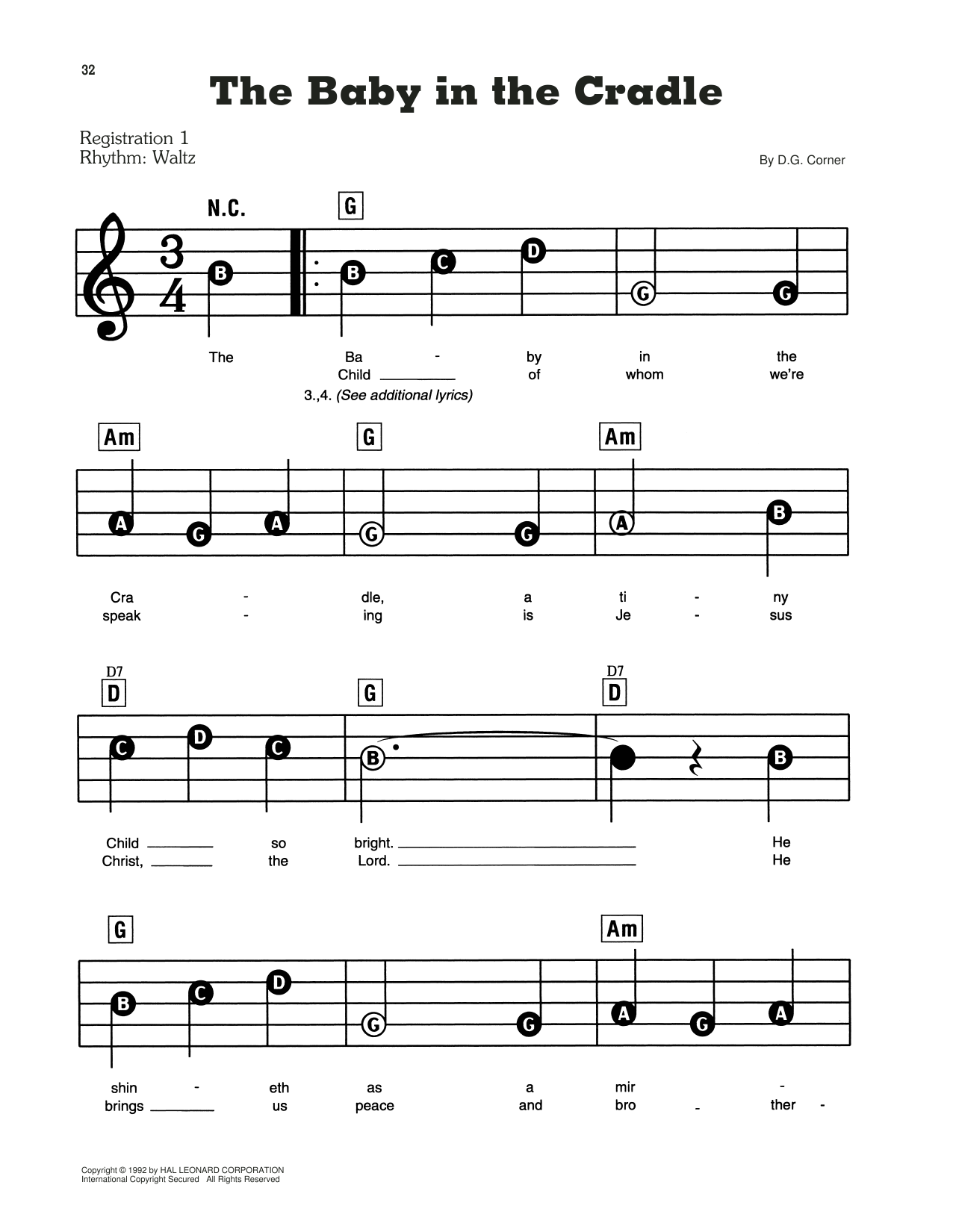A Baby In The Cradle Sheet Music