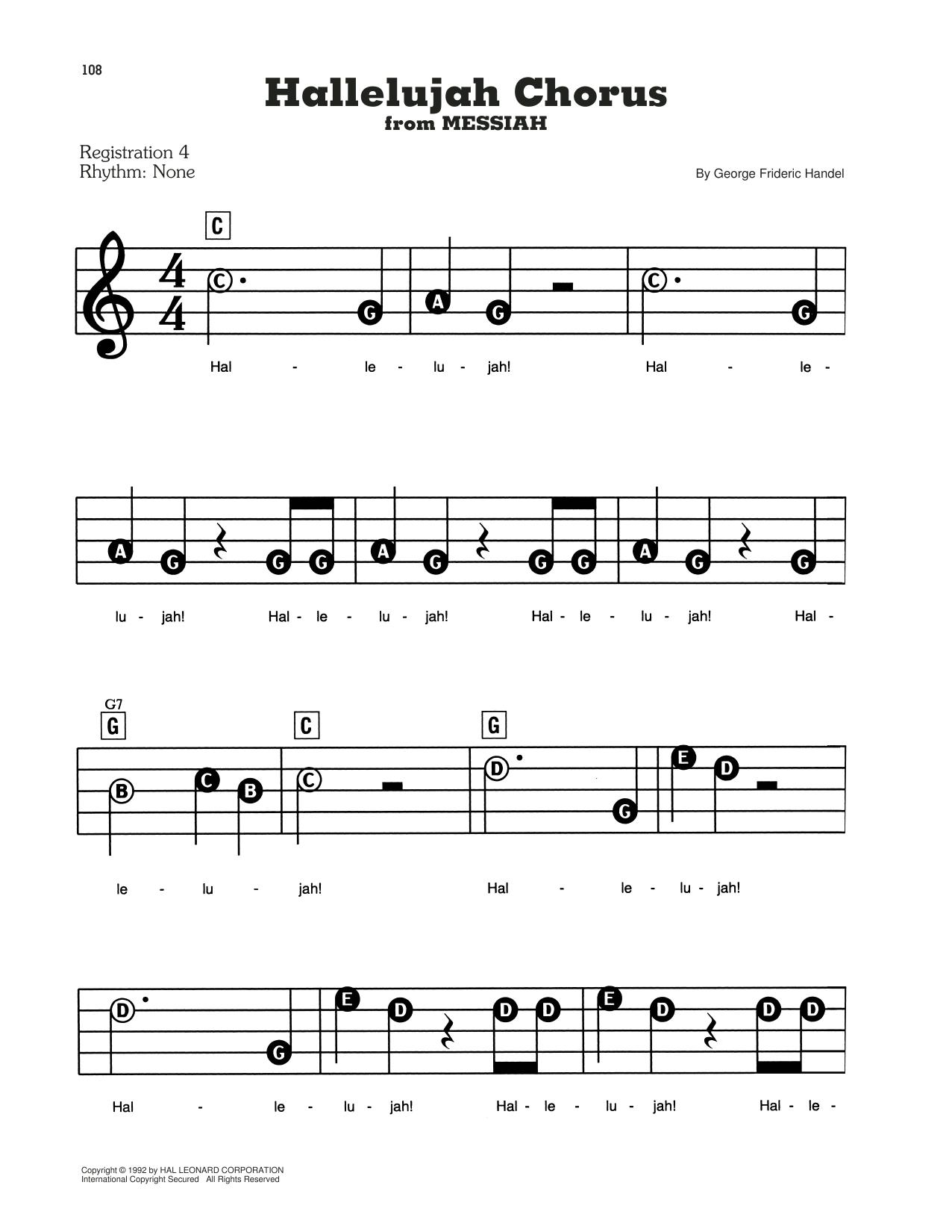 Hallelujah Chorus (E-Z Play Today)