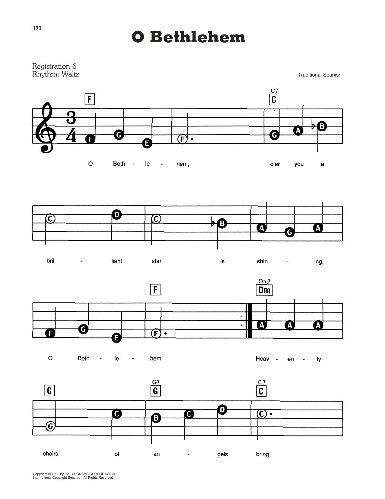 O Bethlehem Sheet Music
