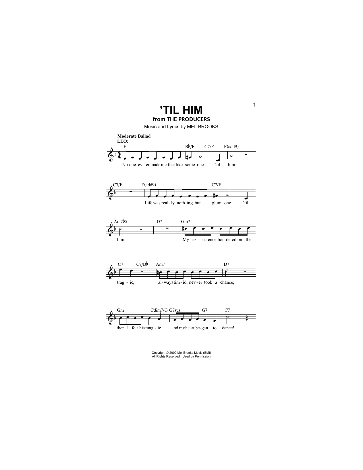 'Til Him Sheet Music