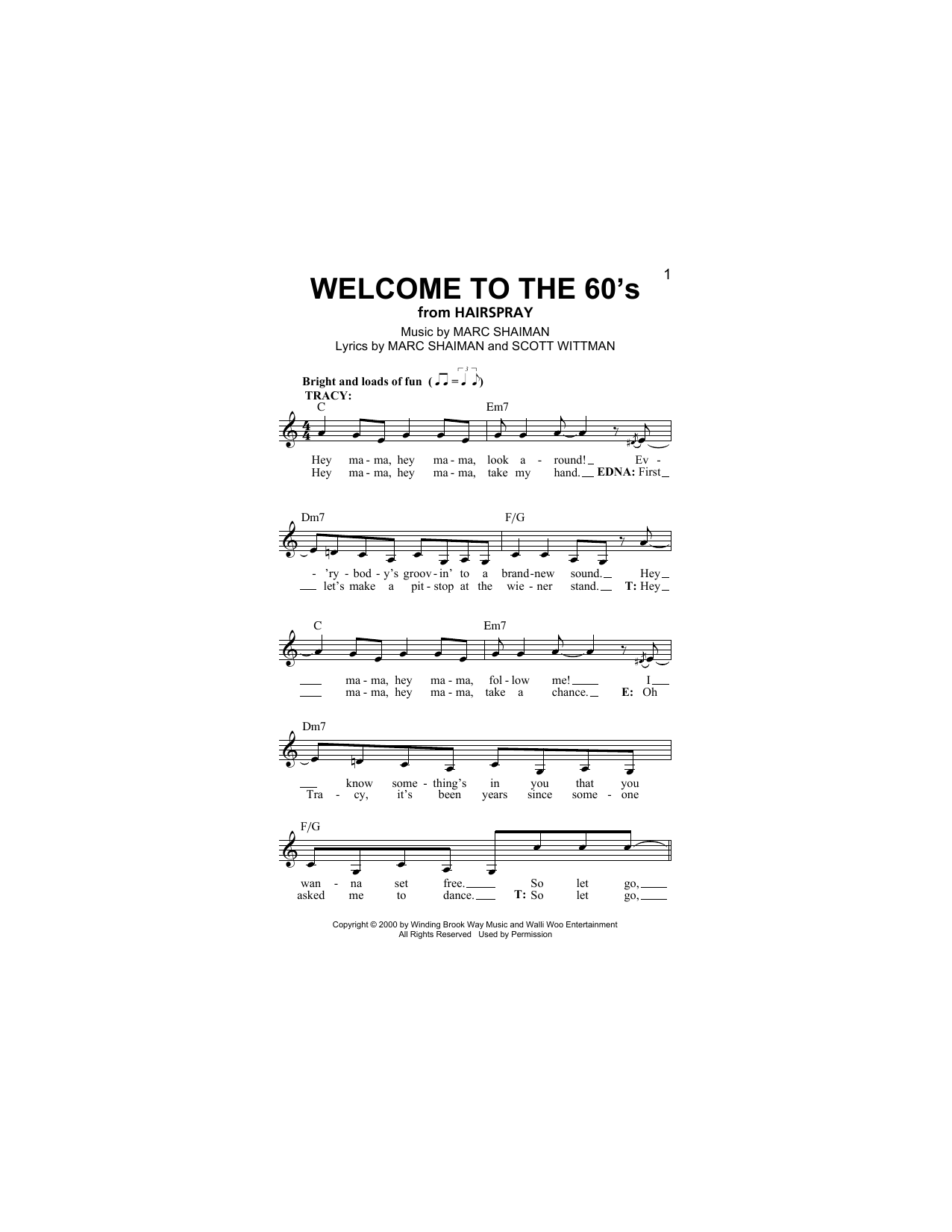 Welcome To The 60's Sheet Music