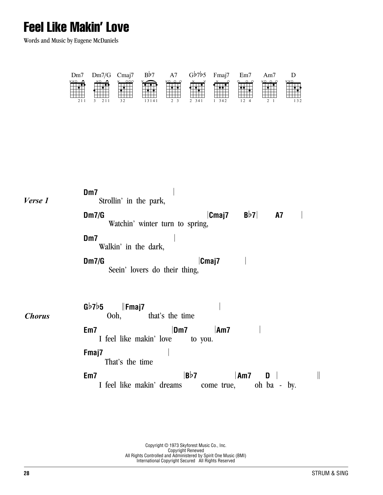 Feel like makin love sheet music by roberta flack lyrics feel like makin love sheet music hexwebz Gallery