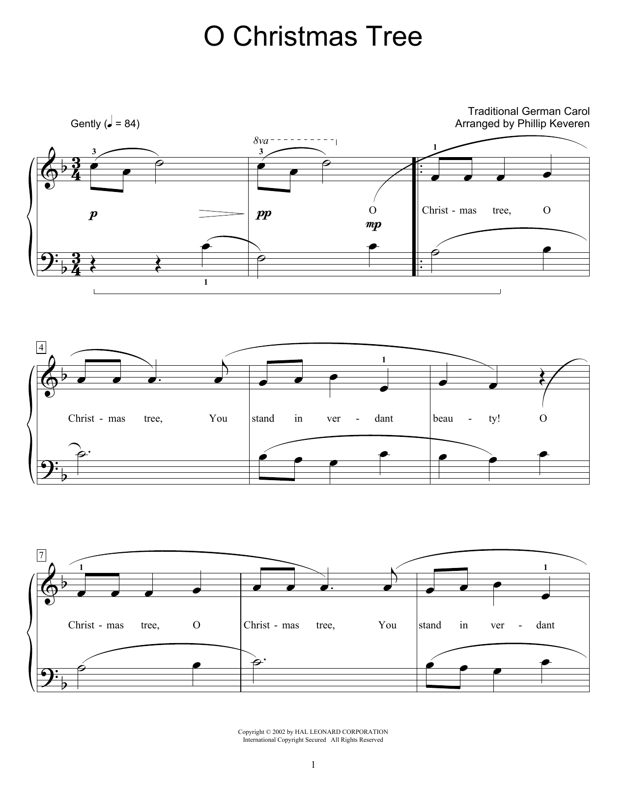 O Christmas Tree Sheet Music | Christmas Carol | Educational Piano