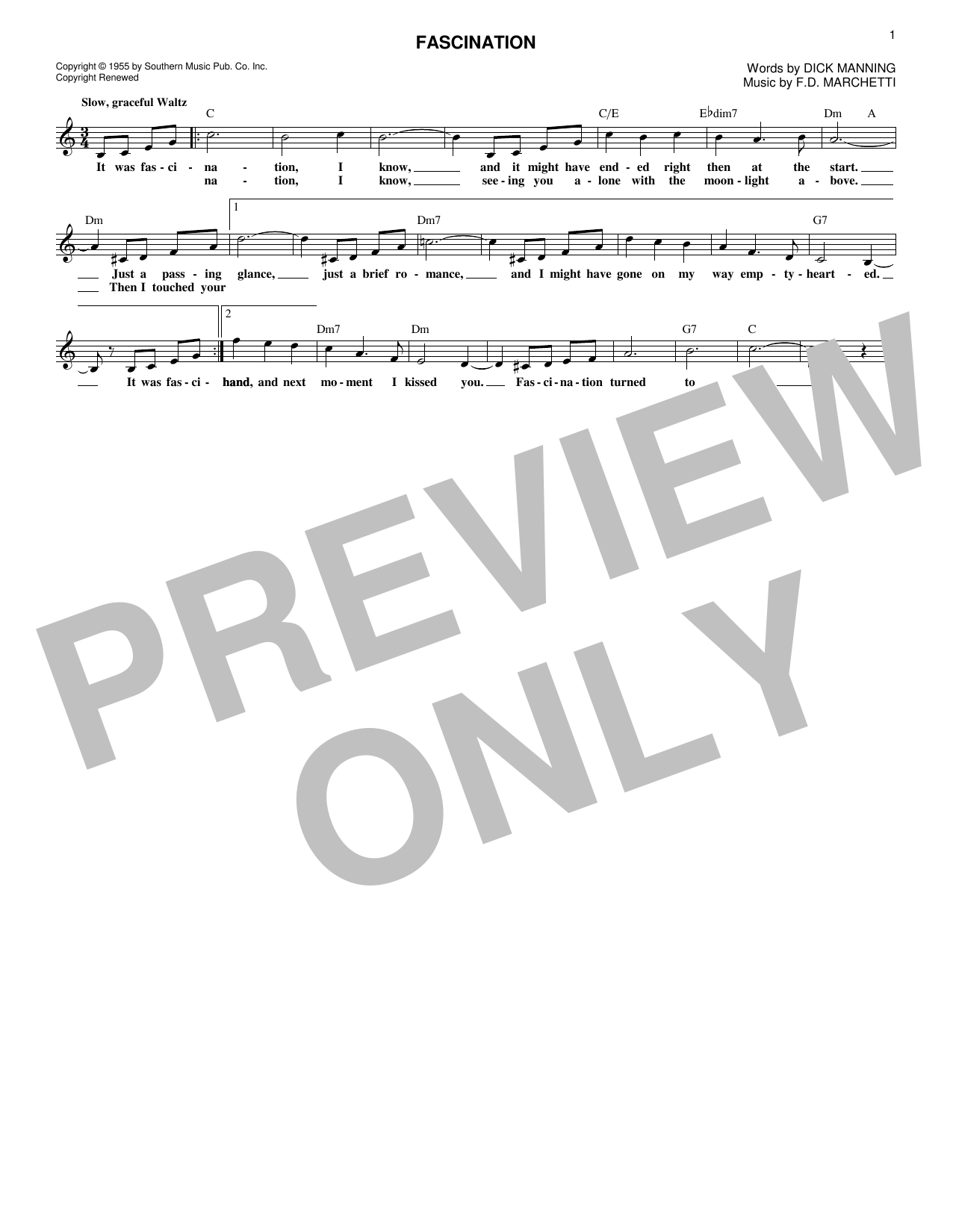 Fascination (Lead Sheet / Fake Book)